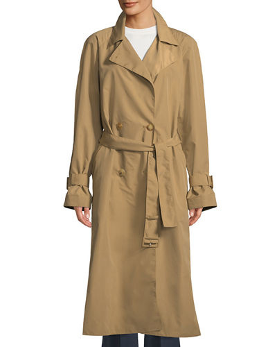 f961f909fc7b Nueta Double-Breasted Belted Trench Coat