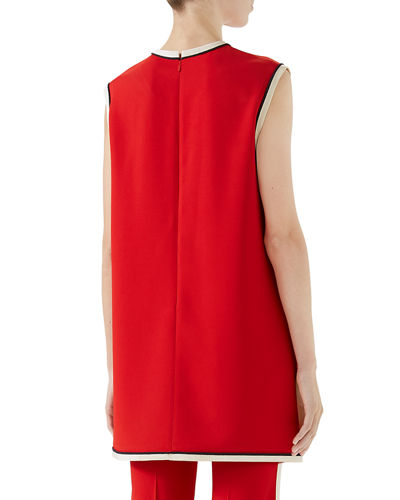 efaa7d364 Gucci Sleeveless Crewneck Cady-Stretch Tunic Top and Matching Items