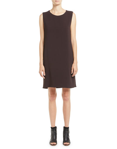 Hani Sleeveless Silk Shift Dress