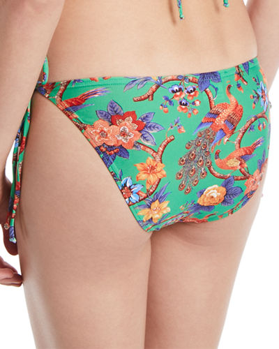 Tie-Side Pattern Triangle Swim Bottoms