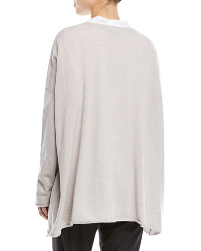 V-Neck Long-Sleeve A-Line Cashmere Sweater