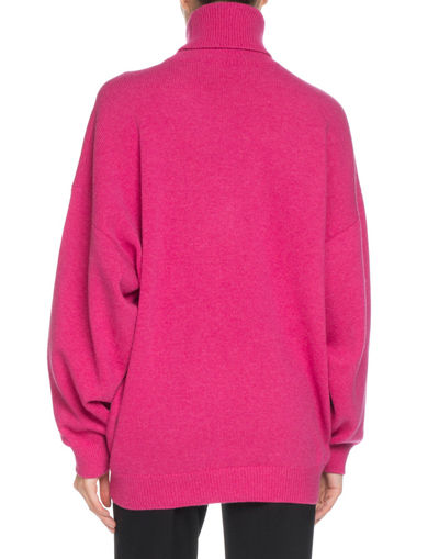 Cashmere-Blend Logo Embroidery Turtleneck Sweater