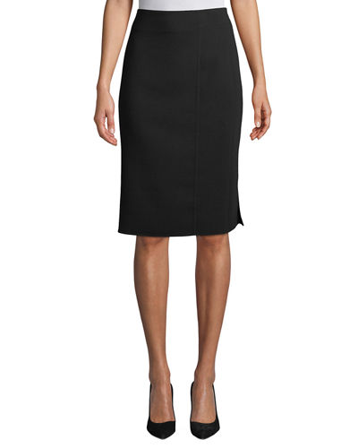 Wool-Blend Knee-Length Pencil Skirt