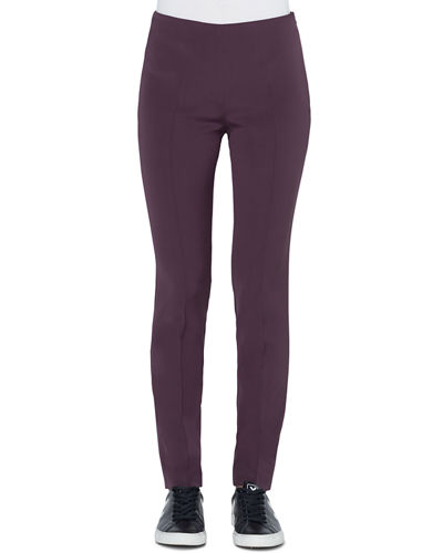 Melissa Slim Stretch Silk Crepe Pants