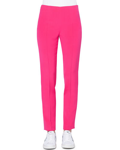 dd9340f3c079 Melissa Slim Stretch Silk Crepe Pants Quick Look. Akris