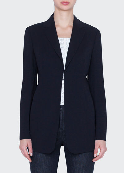 Odette Long Wool Blazer Jacket