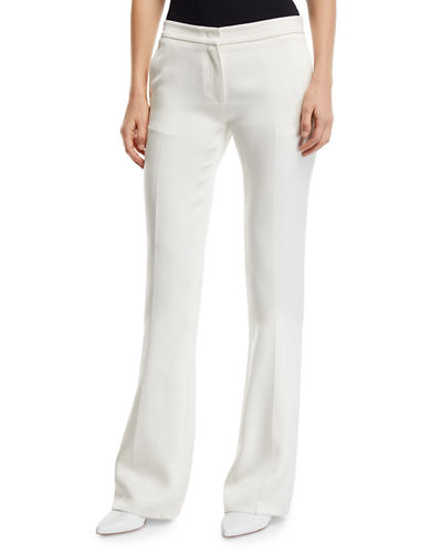 Briggs Flared-Leg Silk Trousers