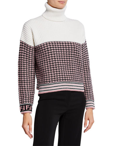 c0e3c91dd08c8 Colorblocked Wool Turtleneck Sweater Quick Look