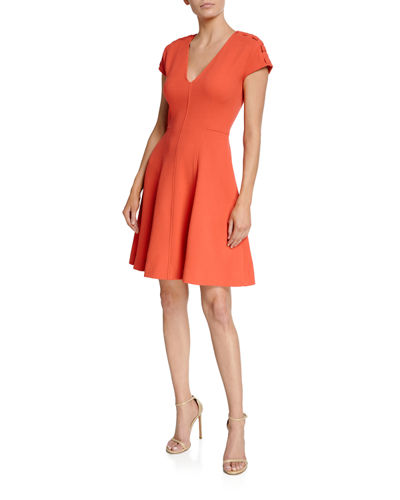 bf82315cb3 Seamed Fit-and-Flare Dress Quick Look. Lela Rose