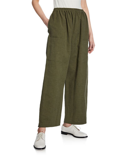 Eskandar Lightweight Linen-Cotton Trousers
