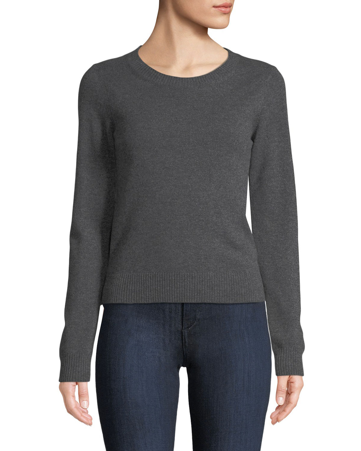 Tomas Maier CREWNECK LONG-SLEEVE CASHMERE SWEATER