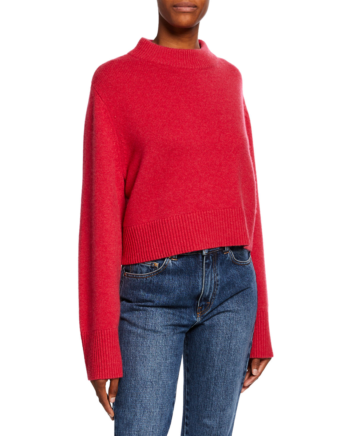 Co Sweaters CASHMERE WIDE-SLEEVE BOXY SWEATER