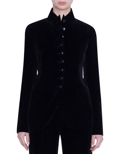 Velvet 10-Button Blazer Jacket