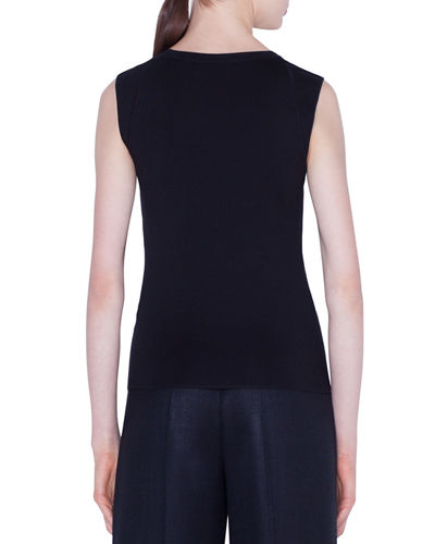 Stretch Silk Sleeveless Sweater