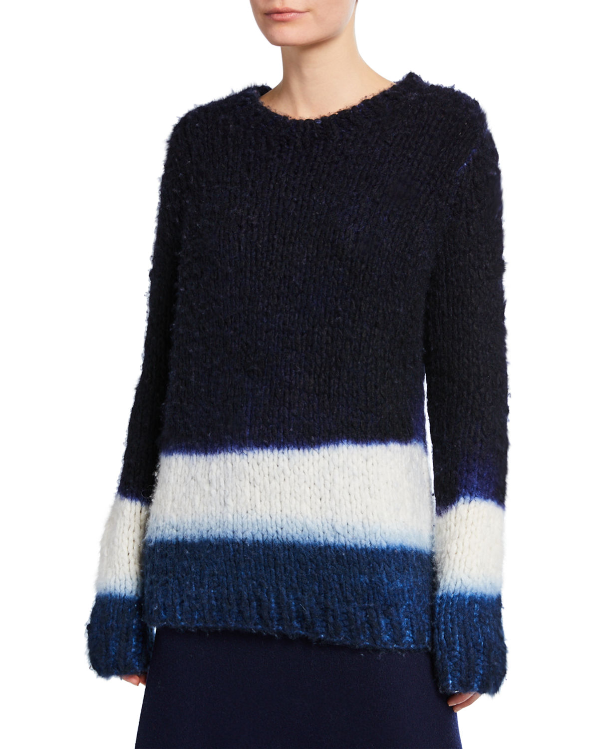 Gabriela Hearst Sweaters Lawrence Cashmere Dip-Dyed Sweater, BLUE PATTERN