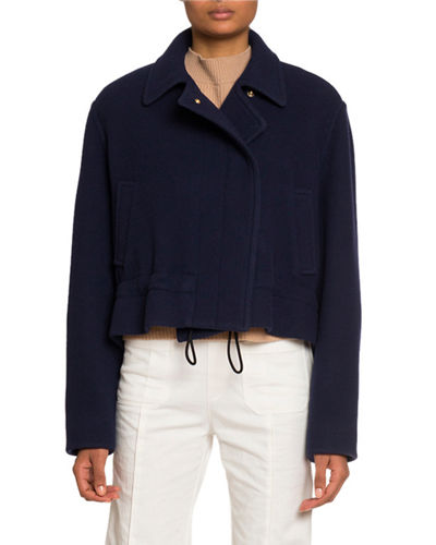 Snap-Front Jacket with Drawcord
