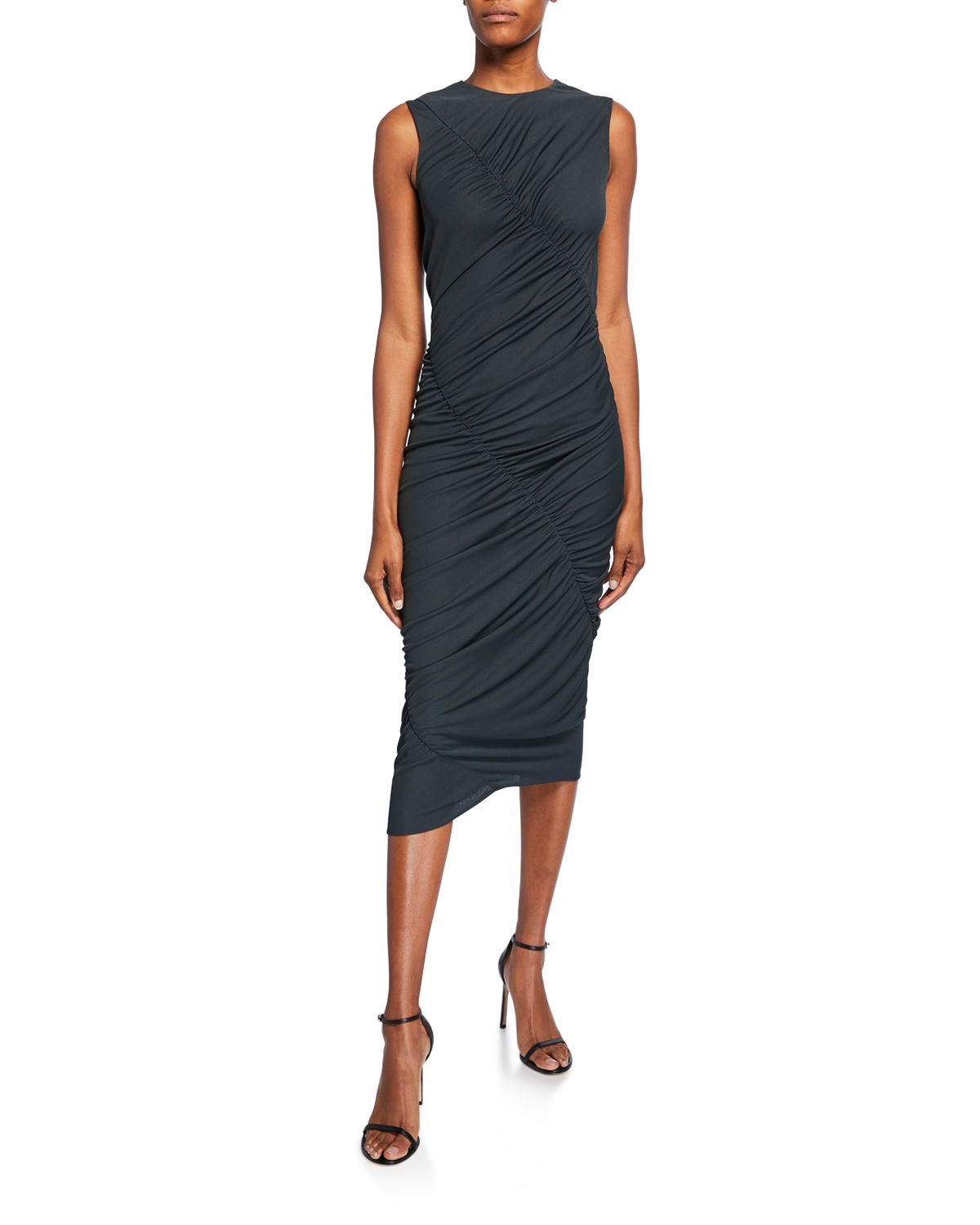 Narciso Rodriguez Dresses RUCHED JERSEY ASYMMETRIC DRESS