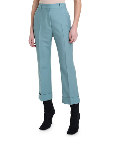Cropped Wool-Twill Pants