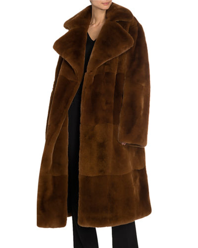Shearling Double-Breasted Big Coat