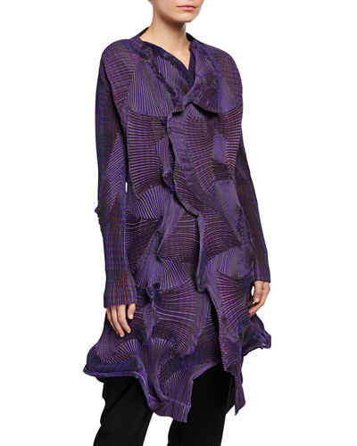 Corona Rippled Crepe Coat