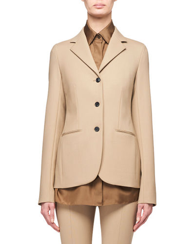 Defina 3-Button Wool Jacket