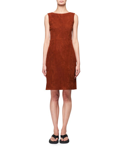 Hara Sleeveless Suede Dress