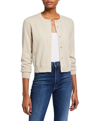 Cashmere Snap-Front Cardigan