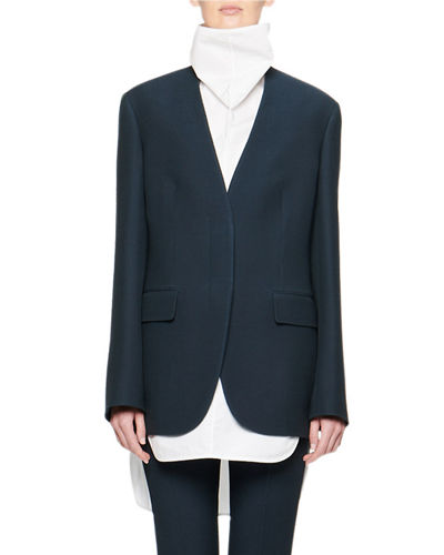 Murray Collarless Wool Jacket