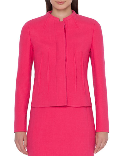 Abadin Round Neck Short Waist Jacket