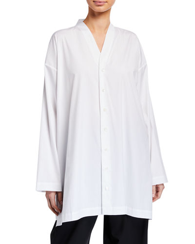 Slim A-Line V-Neck Shirt
