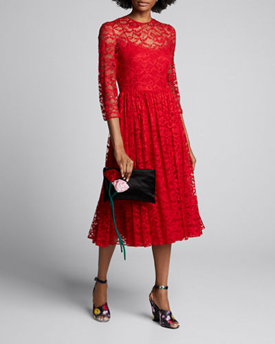 Peony Chantilly Lace Dress
