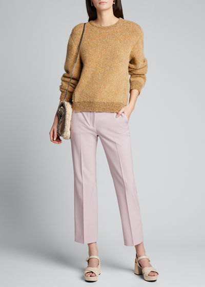 Wool Tailored Crop Pants