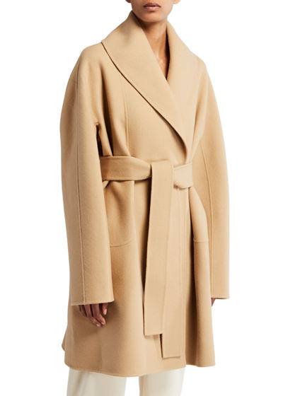 Maddy Felted Wool Wrap Coat
