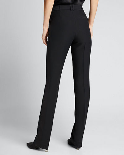 Roosevelt Wool-Silk Slim Trousers