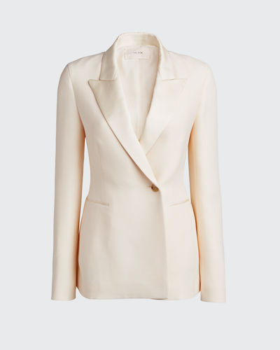 Ciel Wool-Silk Blazer Jacket
