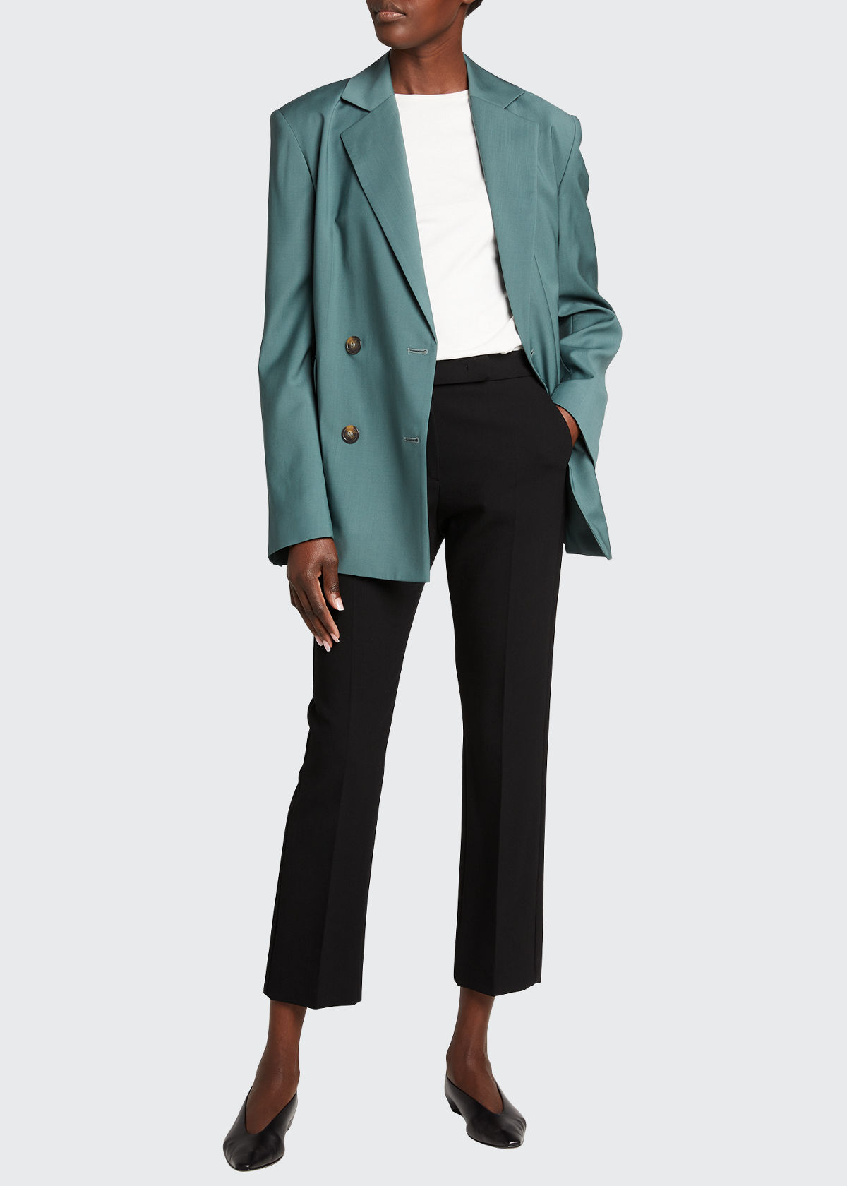 Loulou Studio OVERSIZED DOUBLE-BREASTED WOOL BLAZER