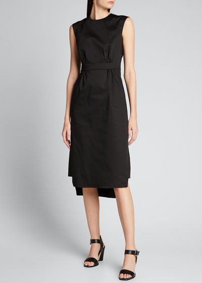 Sateen Sleeveless Suit Dress