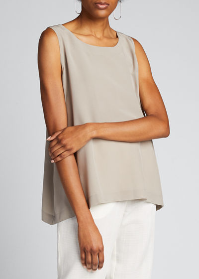 Silk A-Line Shell Top