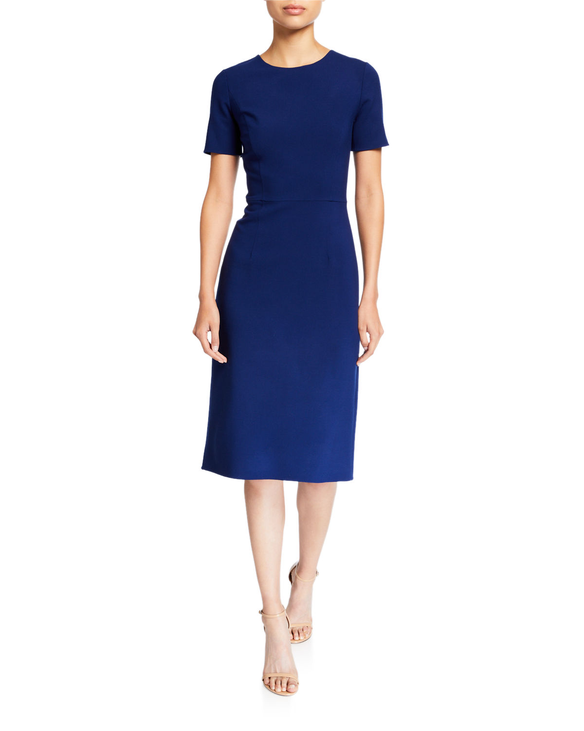 Carolina Herrera Dresses CREWNECK SHEATH COCKTAIL DRESS