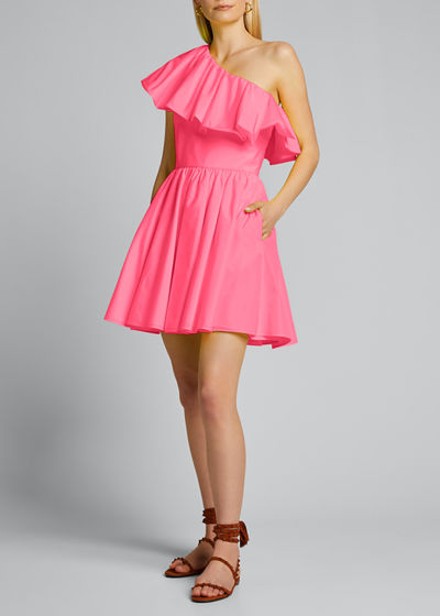 One-Shoulder Flared Mini Dress