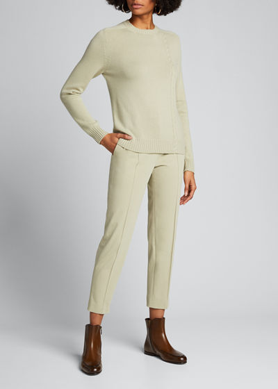 Baby Cashmere Asymmetric Cable-Knit Sweater