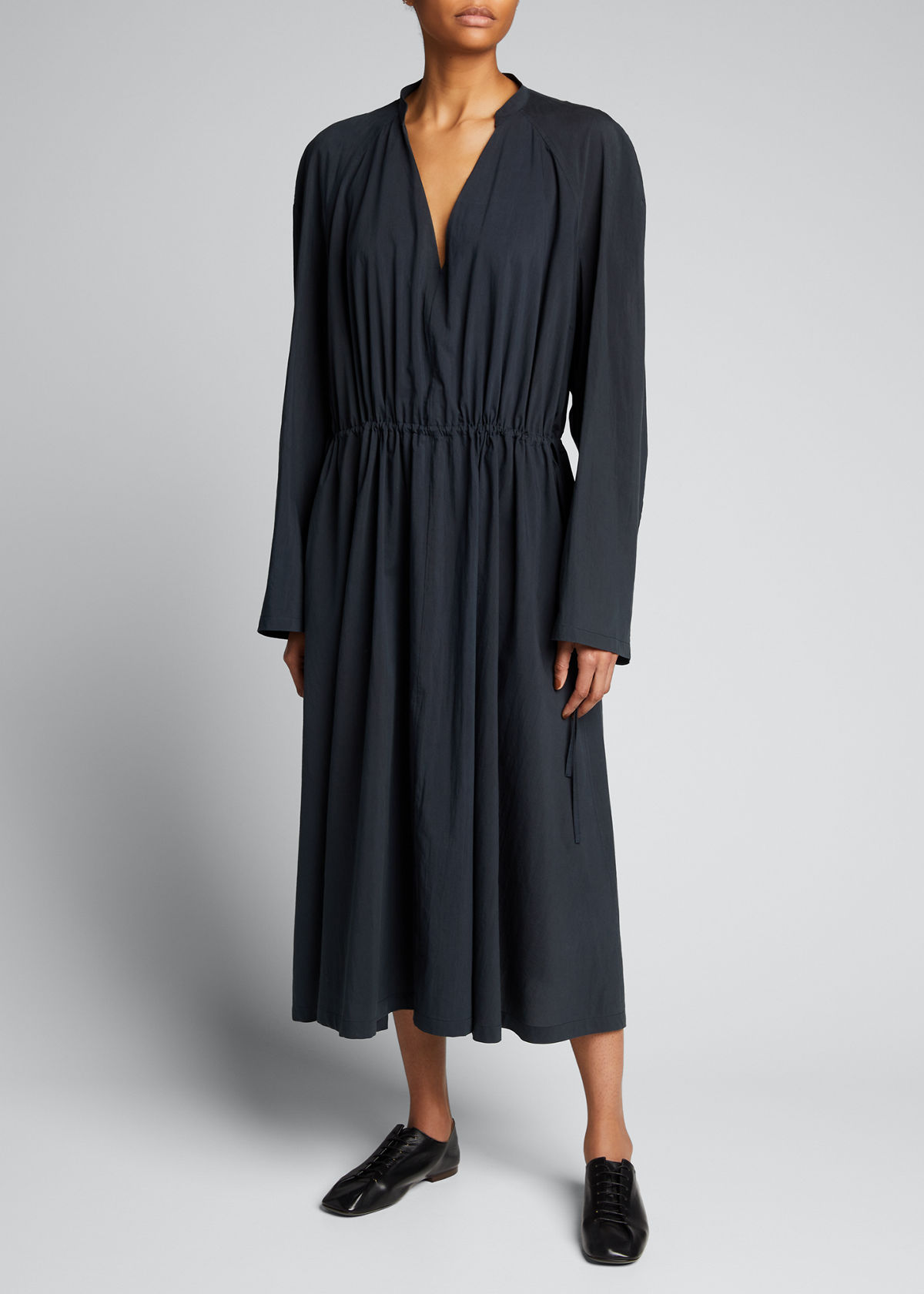 Lemaire Clothing BELTED COTTON-BLEND MAXI DRESS