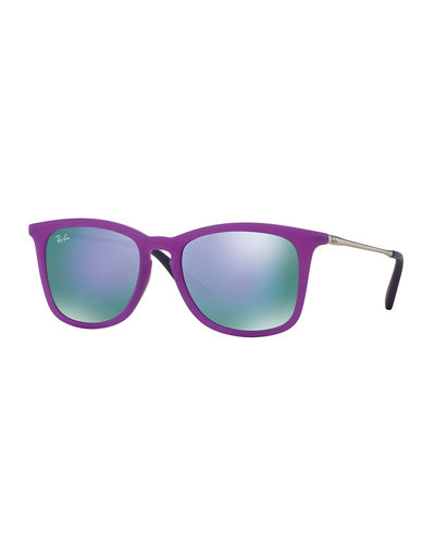 dcda0a7ce65ef Ray-Ban Junior Mirrored Wayfarer Sunglasses
