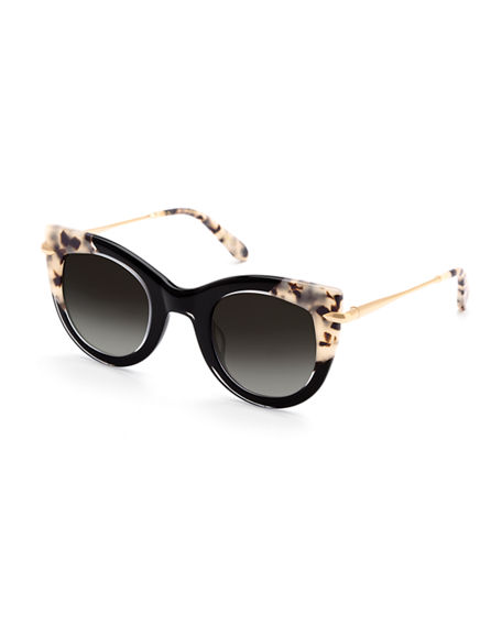 Krewe Sunglasses LAVEAU CAT-EYE SUNGLASSES