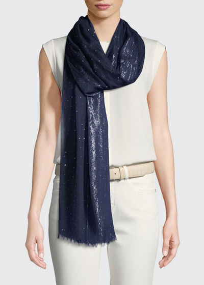 Loro Piana Crystal Drop Cashmere-Blend Stole