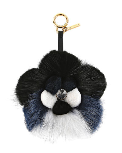 Fur Flower Charm for Handbag