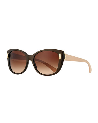 Square Gradient Two-Tone Sunglasses