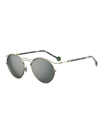 DiorOrigins1 Round Geometric Sunglasses