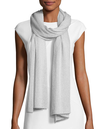 Ribbed Lightweight Metallic Scarf