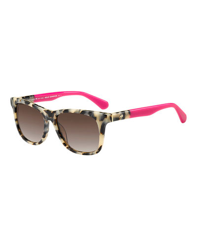 charmine two-tone square sunglasses